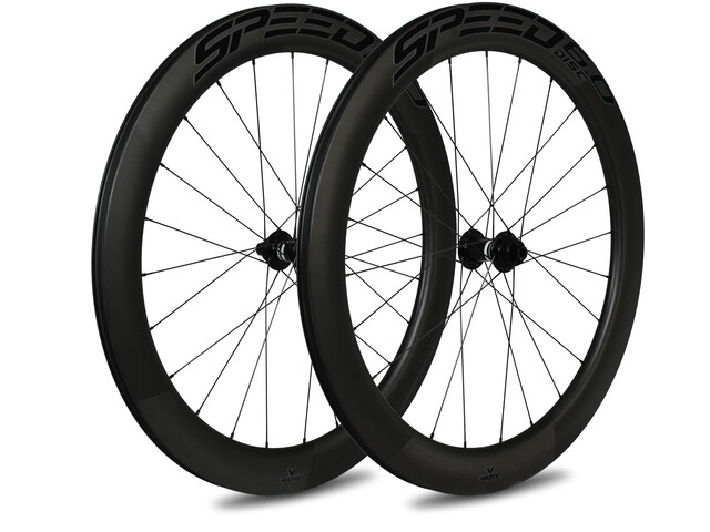 Veltec Speed 6.0 Ensemble de roues pour la route 60mm Frein à disque QR Shimano, black
